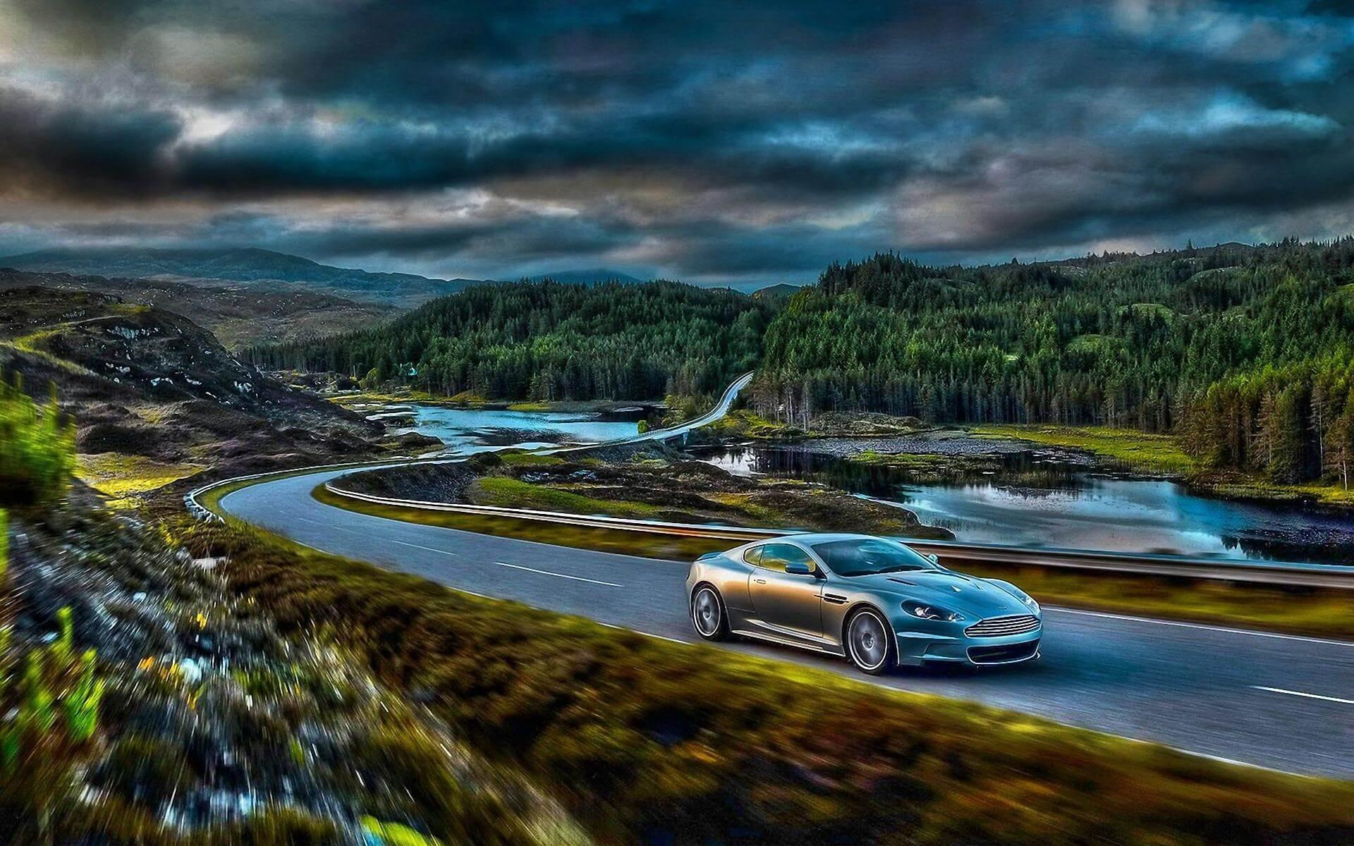 Красивые фото в горах крутых авто